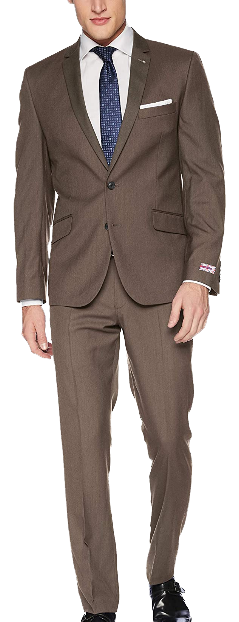 Slim-fit stretch brown suit by Billy London