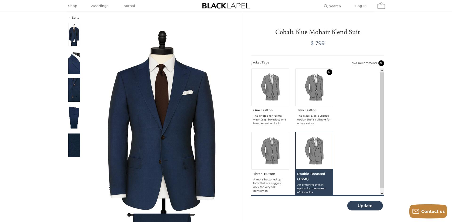 Black Lapel made-to-measure suit designer final check