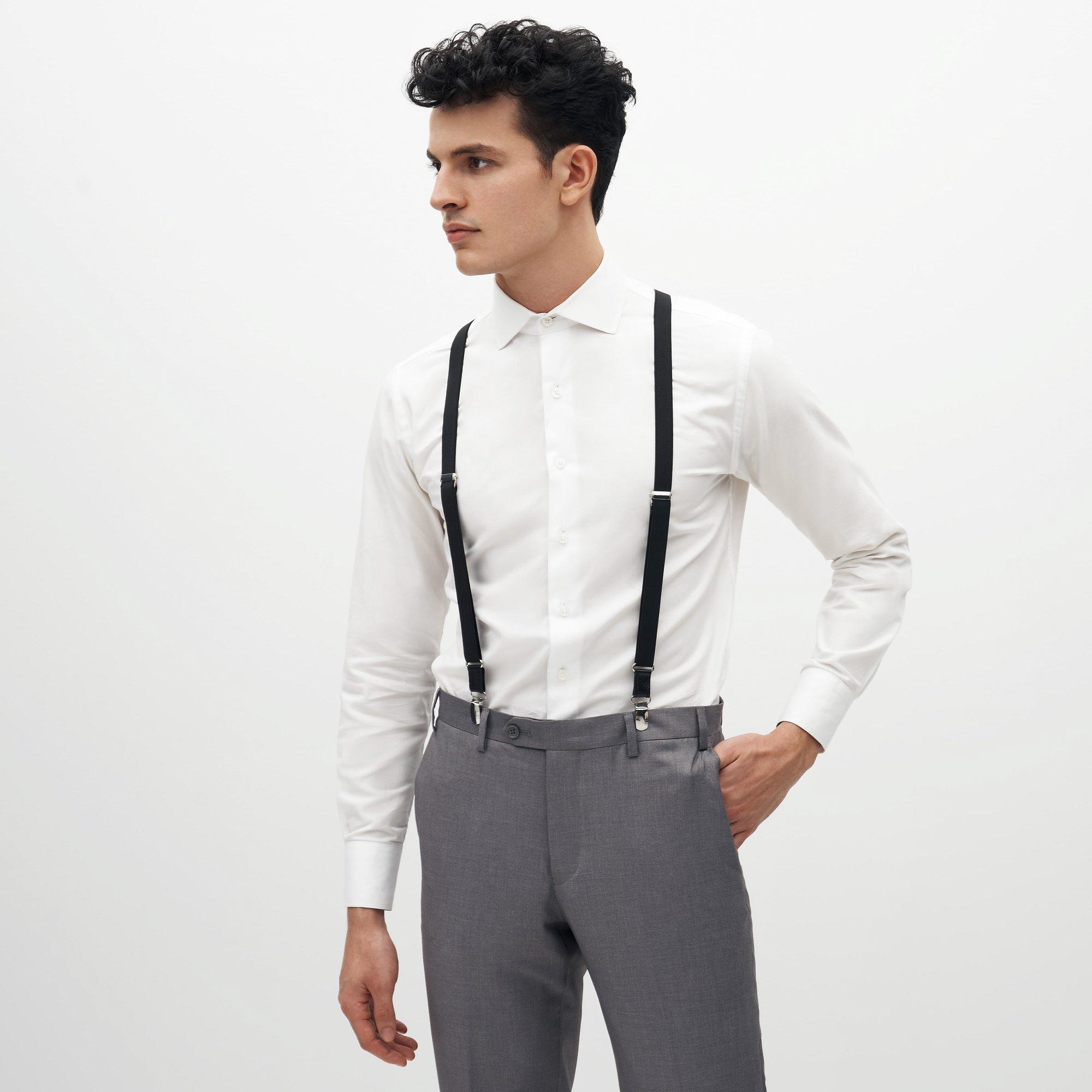 black suspenders match all suit colors