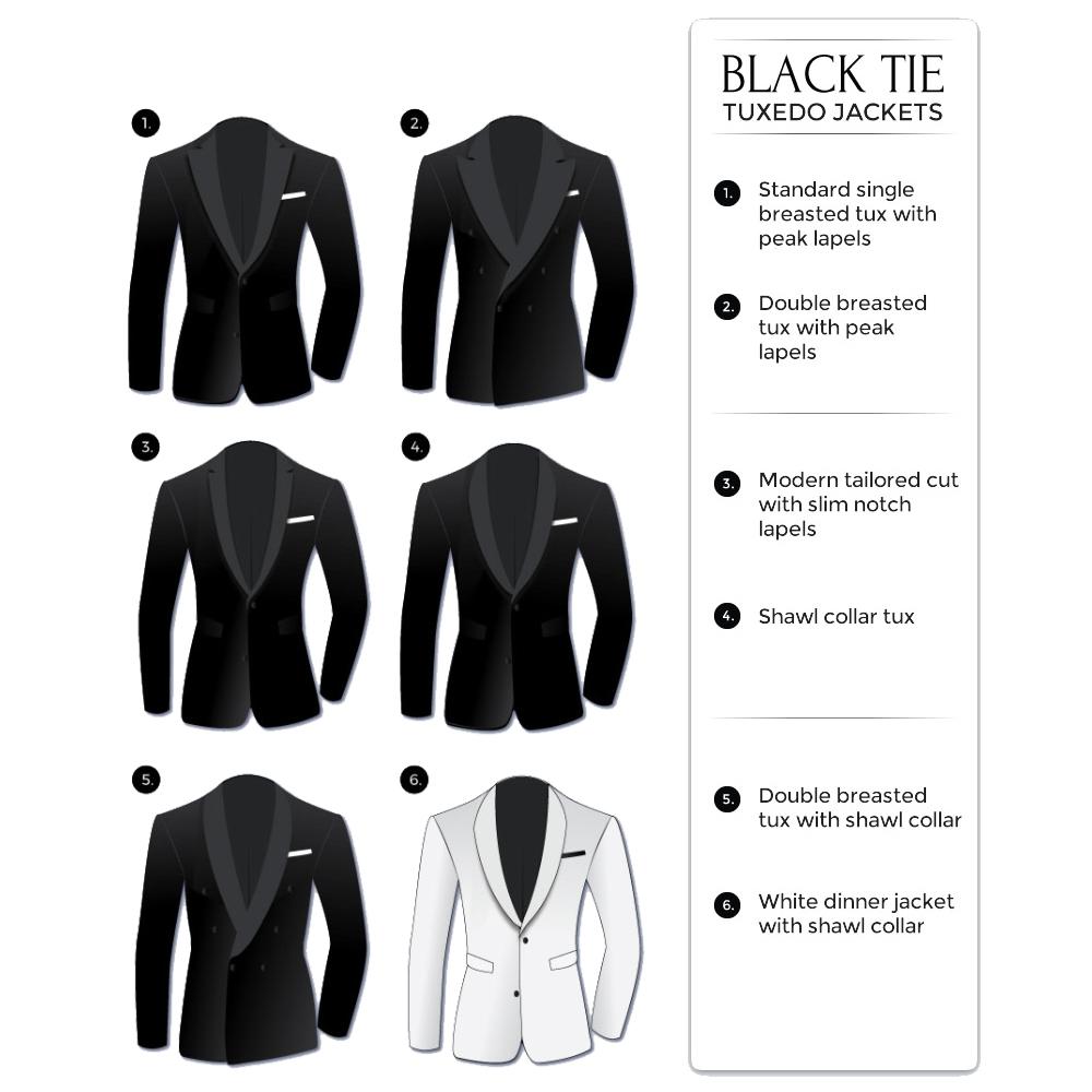 black-tie attire: tuxedo jackets