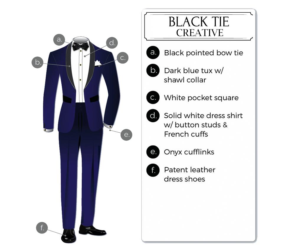 black-tie creative attire for men