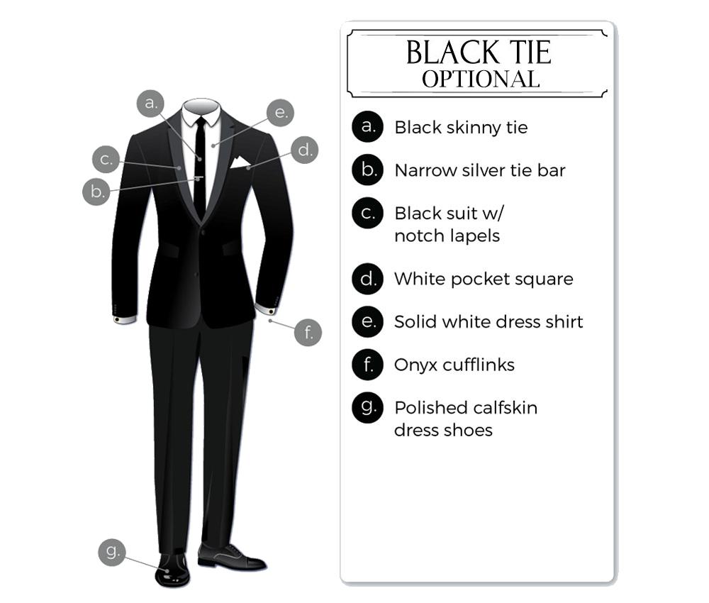 black-tie optional tuxedo attire for men