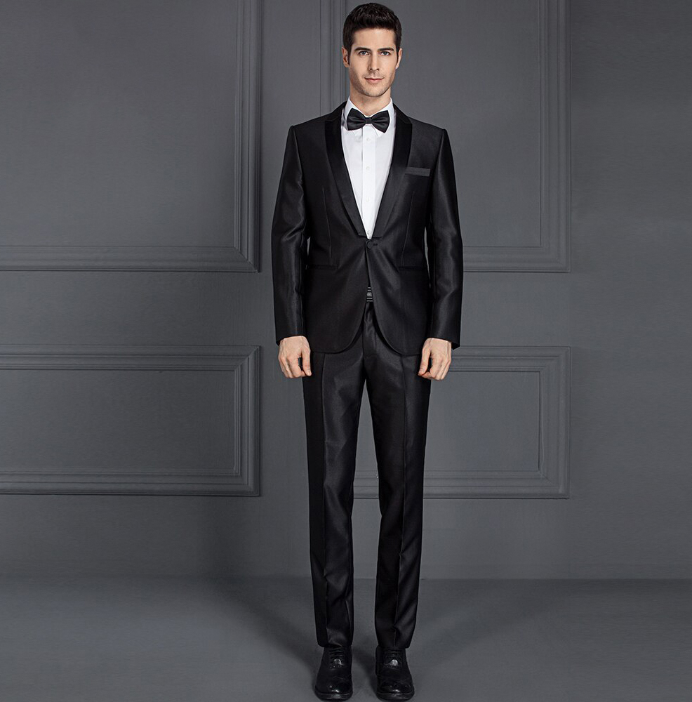 black wedding suits and tuxedos for men