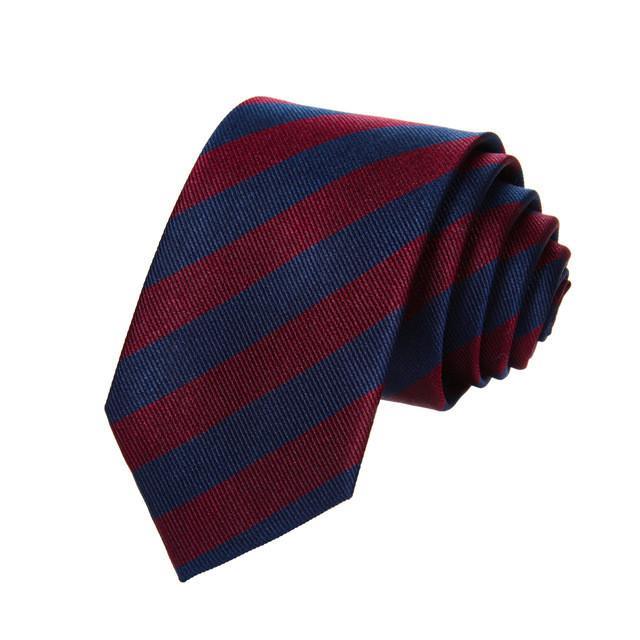British striped tie