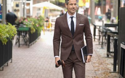Brown Suit Color Combinations with Shirt and Tie