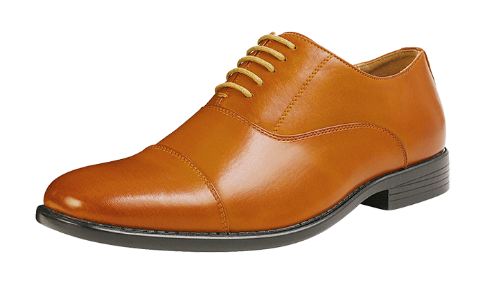 Light brown leather oxfords by Bruno Marc