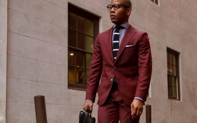 Burgundy Suit Color Combinations with Shirt and Tie