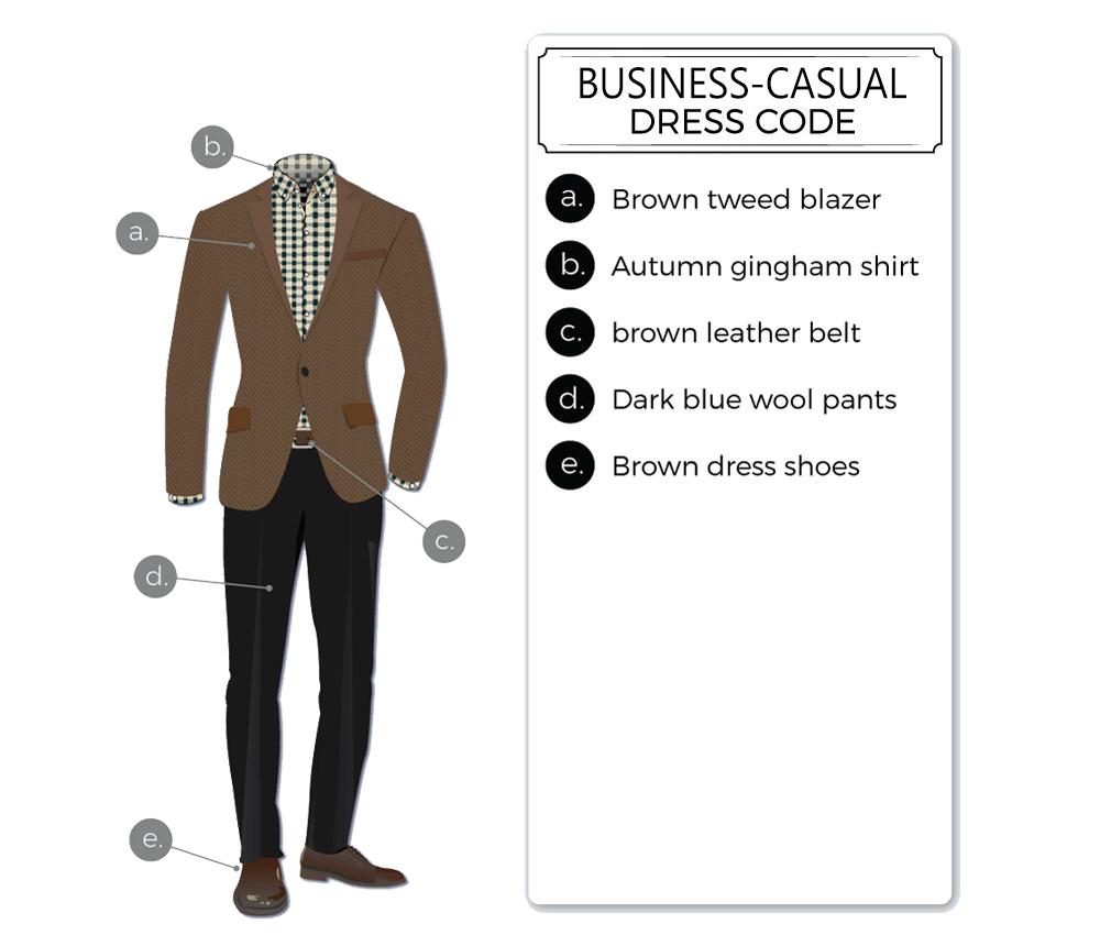 business-casual dress code attire for men