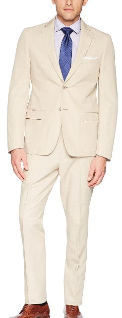 Slim-fit beige suit by Calvin Klein