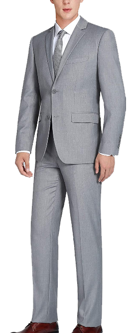 Two-piece classic fit light grey suit by CHAMA