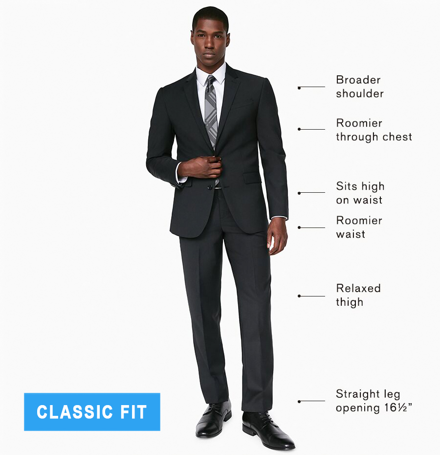 classic fit suits explained