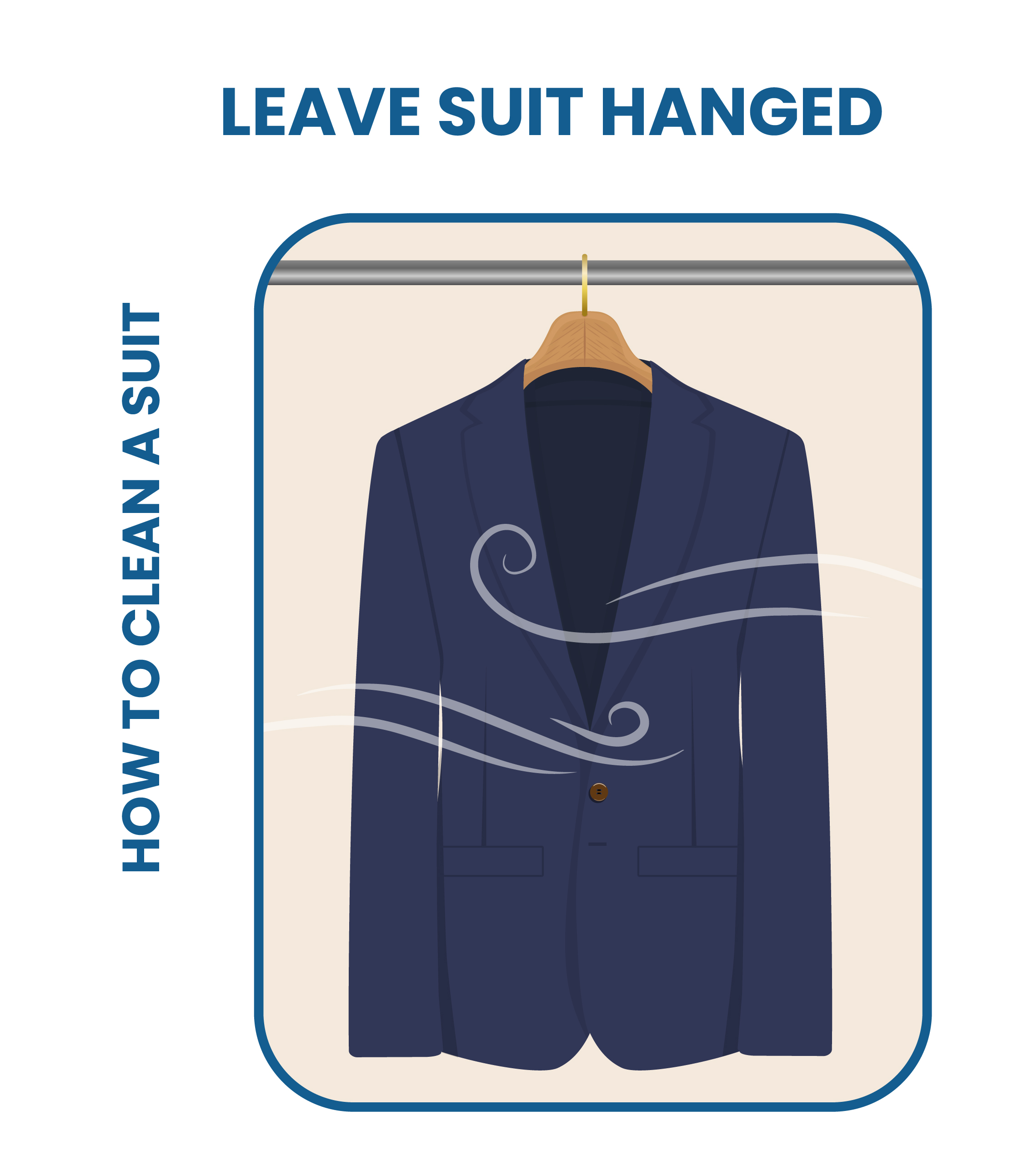 leave your suit hanged after you finished with the cleaning