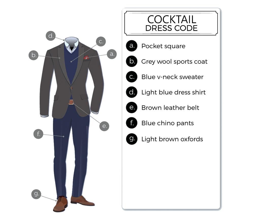 cocktail dress code attire for men