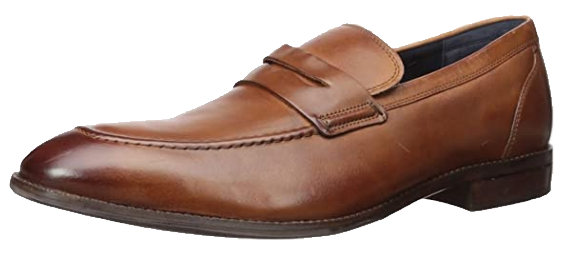light-brown loafers by Cole Haan