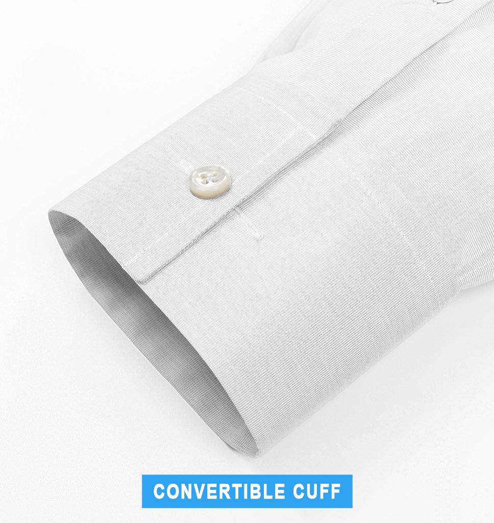 convertible cuff tuxedo shirt