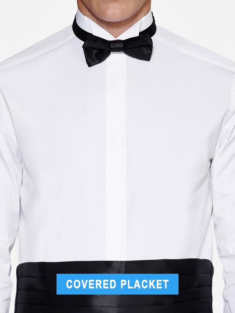 covered placket tuxedo shirt