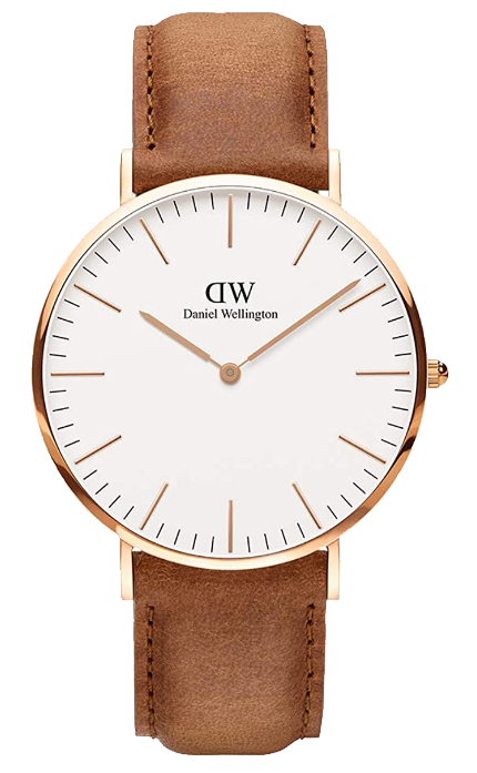 Daniel Wellington classic Durham with light brown leather strap