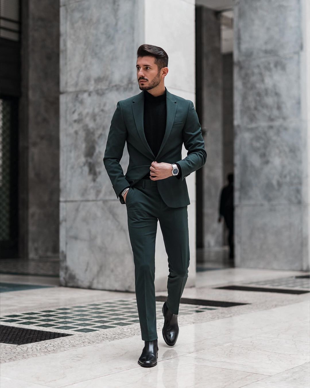 dark green suits are considered formal