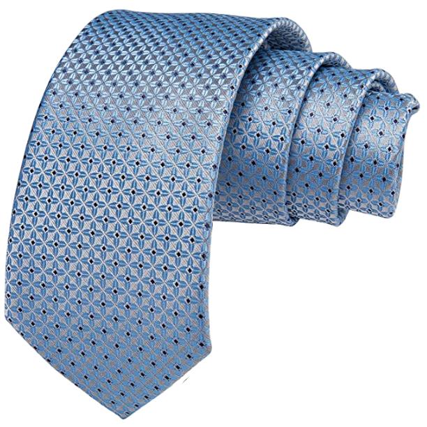 foulard light blue tie by DiBanGu