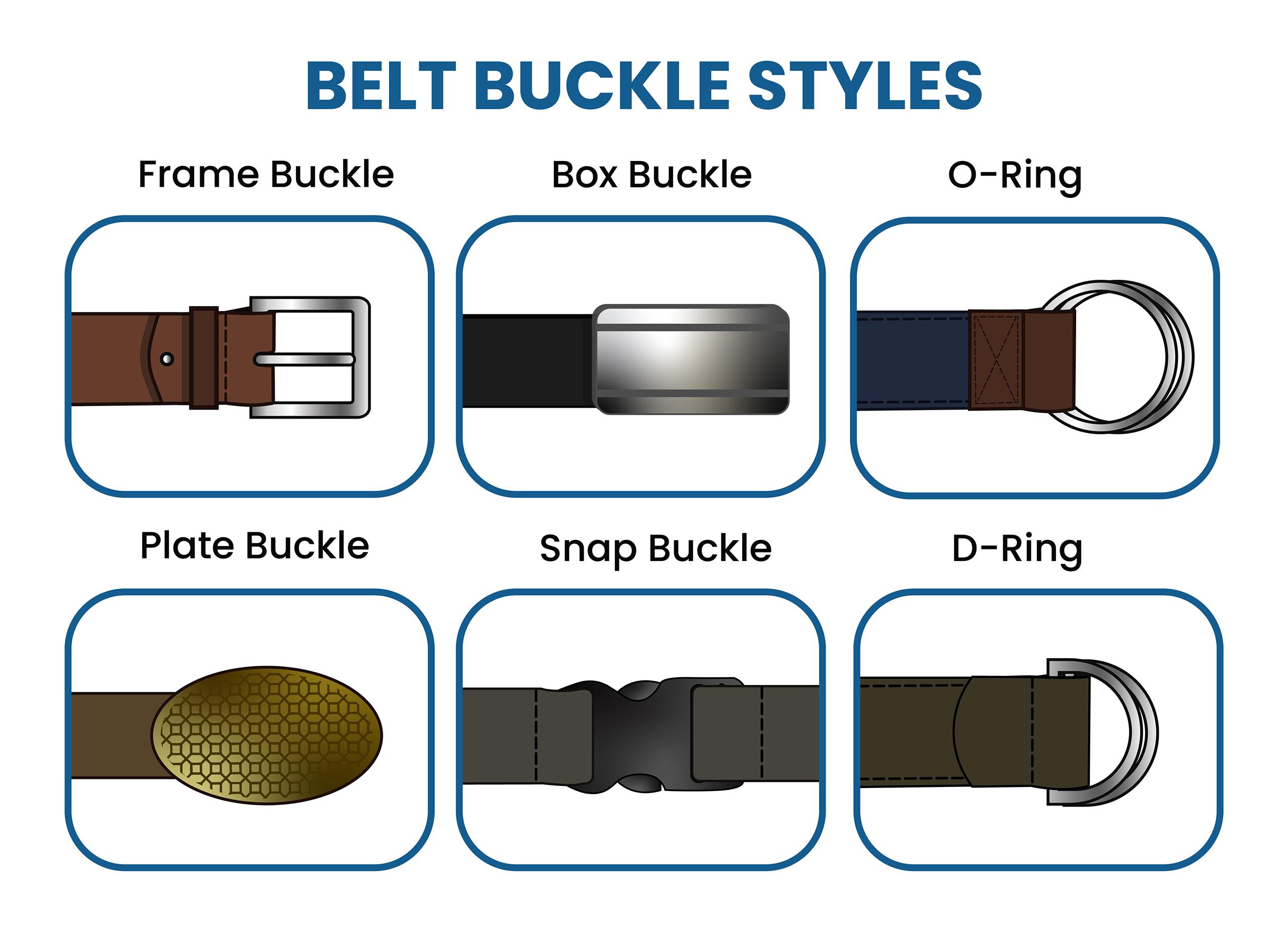 different belt buckle styles