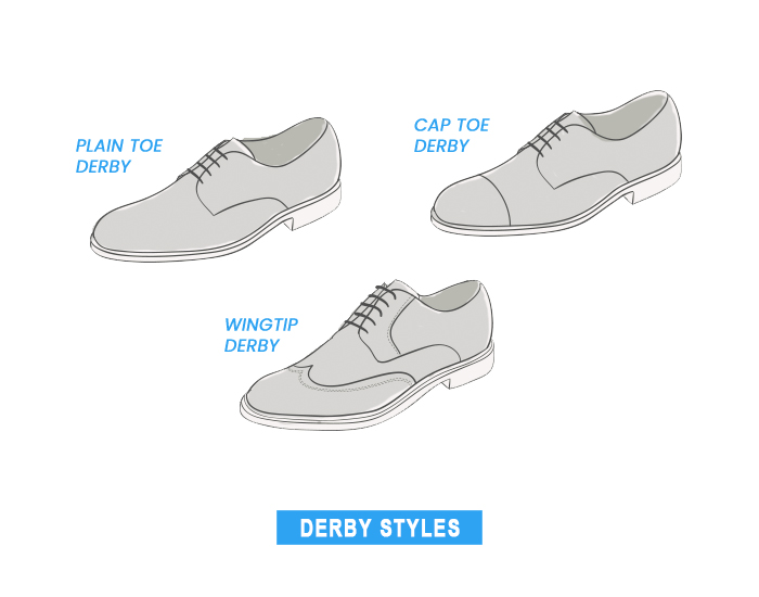 different derby shoe types