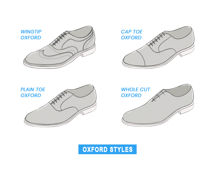 different oxford shoe types