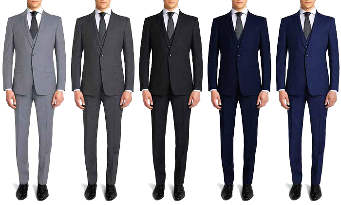 different suit color combinations