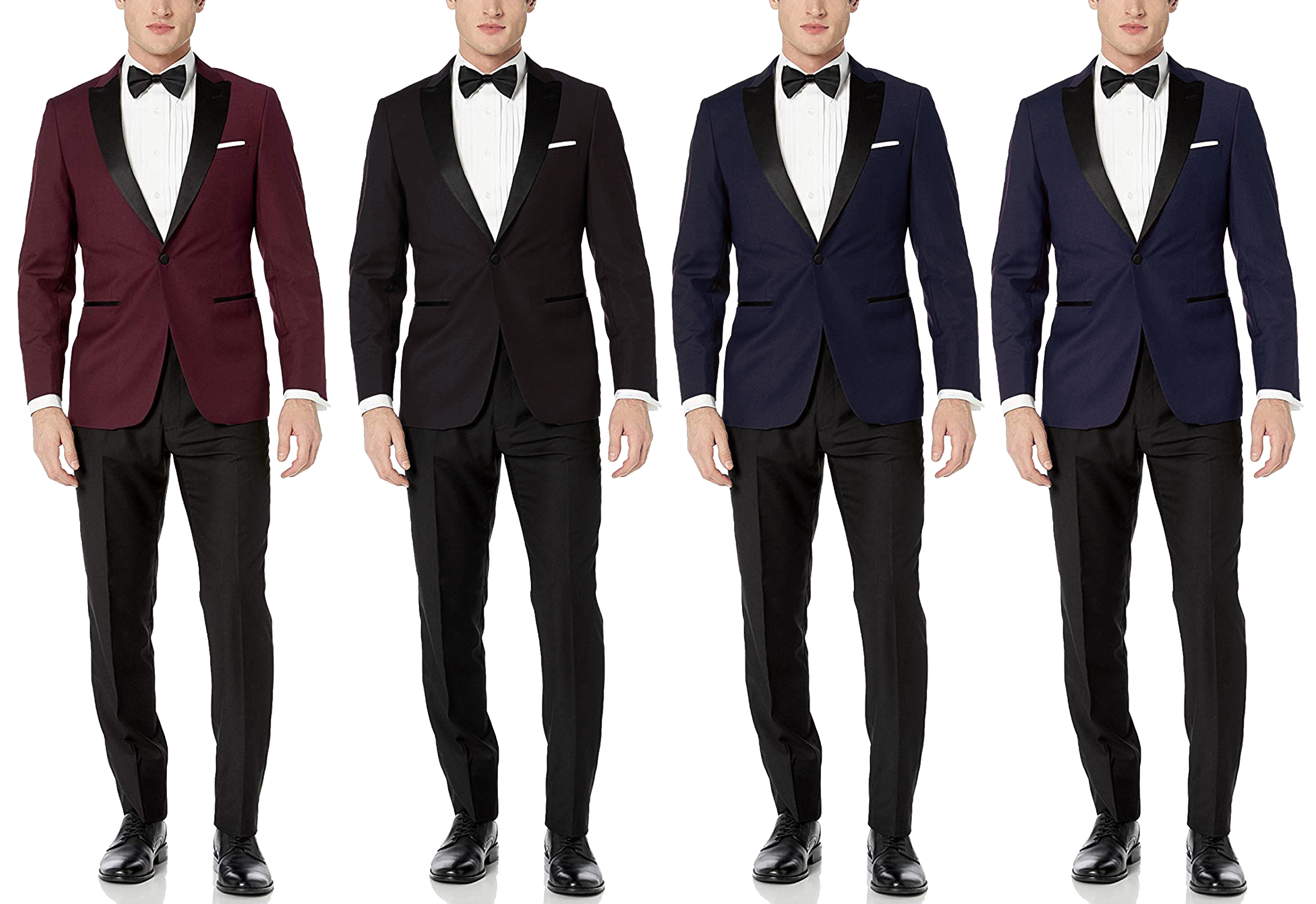 different tuxedo color choices and combinations