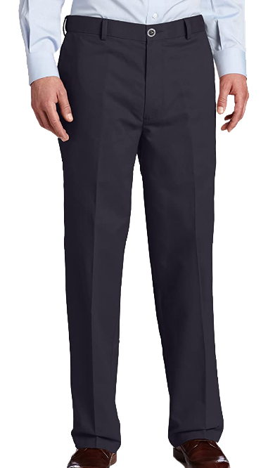 classic fit navy dress pants by Dockers