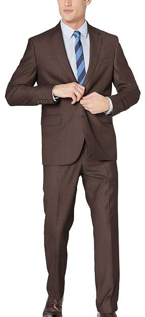 Regular-fit brown suit by Dockers
