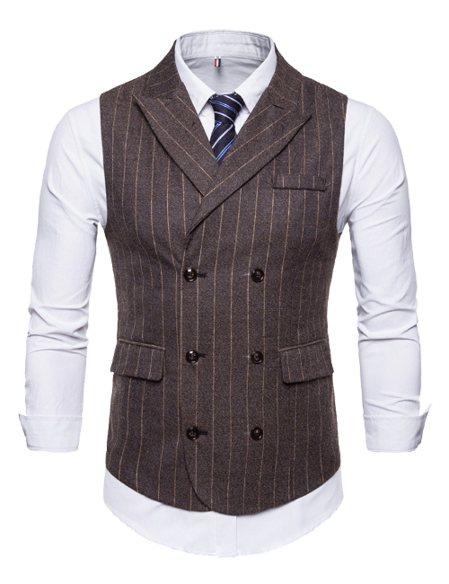 double-breasted six-button vest