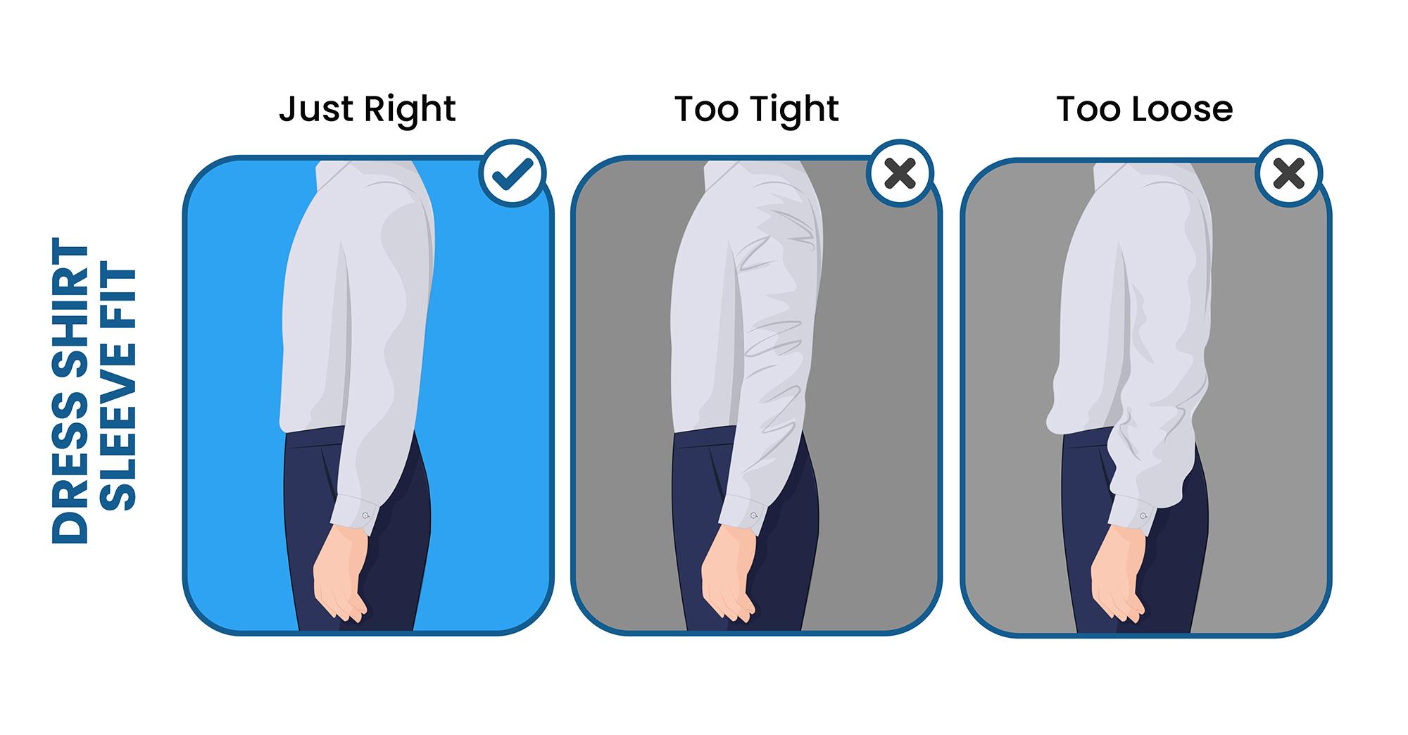 dress shirt sleeve fit