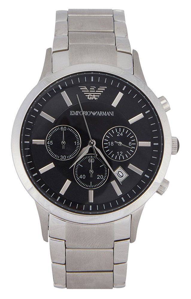 Stainless steel chronograph watch model #AR2434 from Emporio Armani