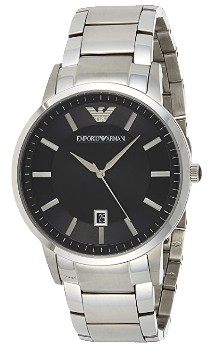 Stainless steel chronograph watch model #AR2457 from Emporio Armani