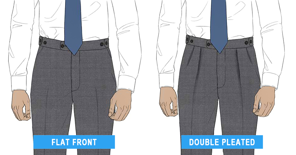 Flat front vs. pleated pants