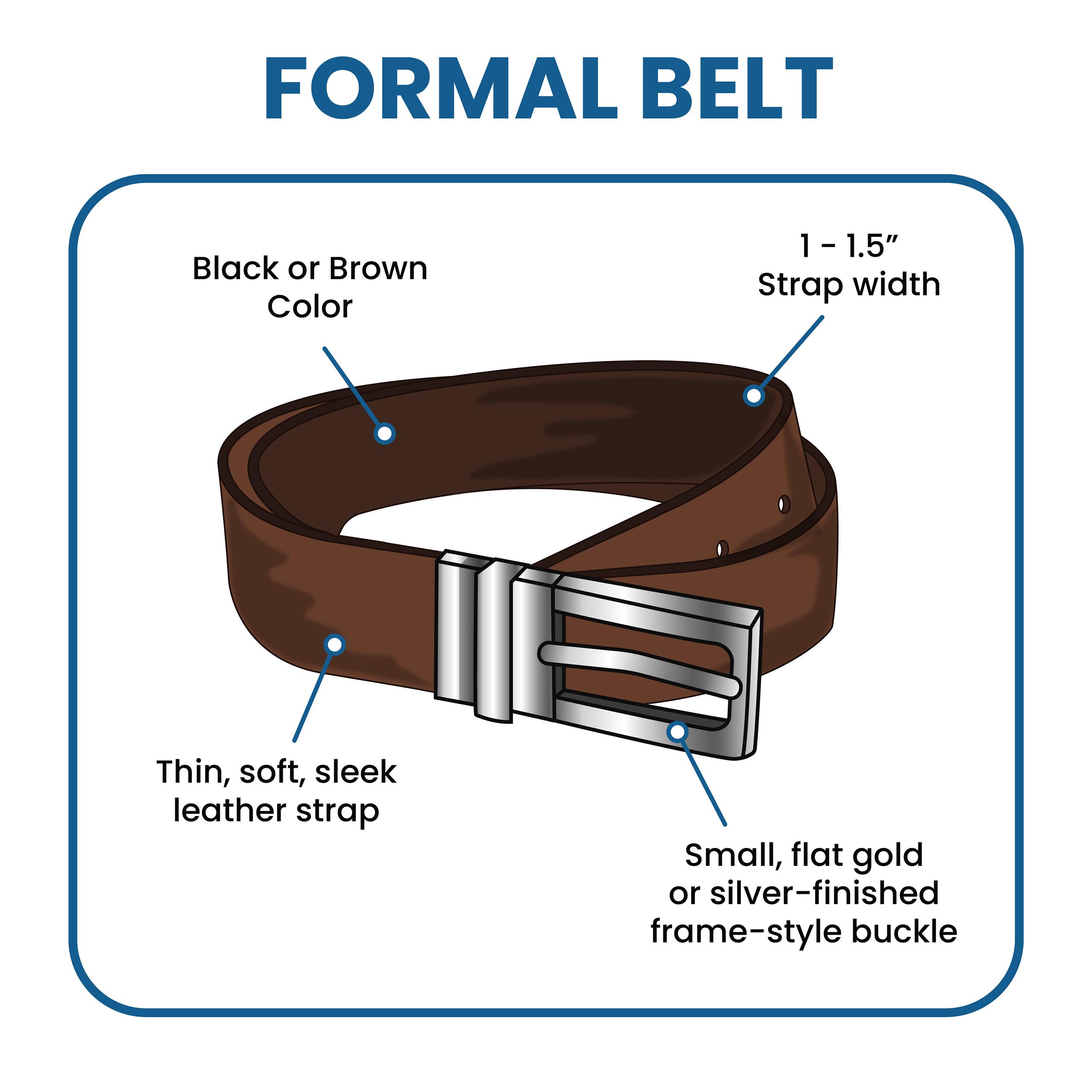 formal belt features