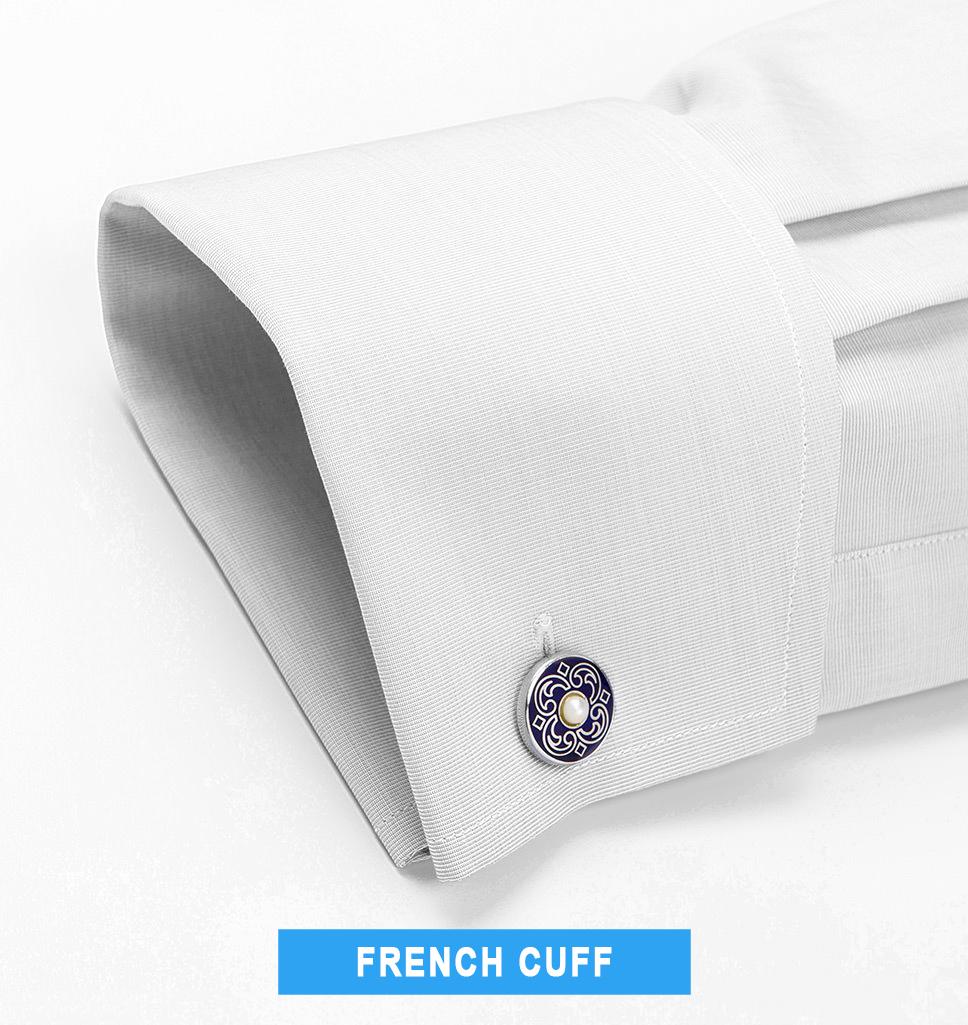 french cuff tuxedo shirt