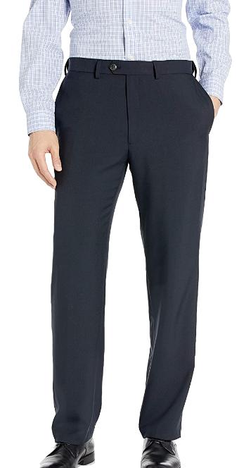 Classic fit navy dress slacks by Haggar