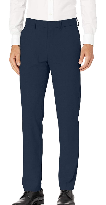 Superflex slim fit blue dress pants by Haggar