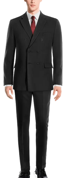 double-breasted wool blends suit by Hockerty