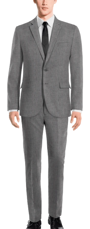 Made-to-measure rustic linen light grey suit by Hockerty