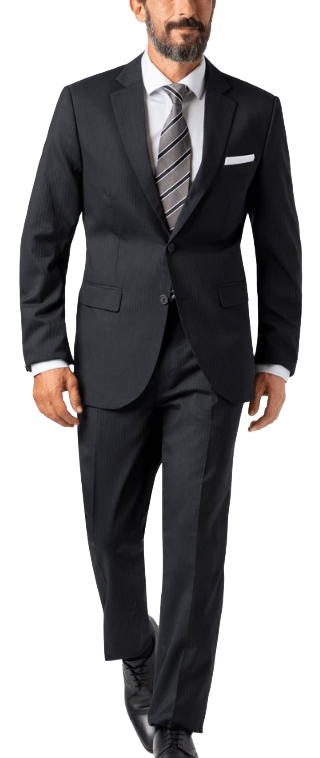 made-to-measure wool black suit by Hockerty