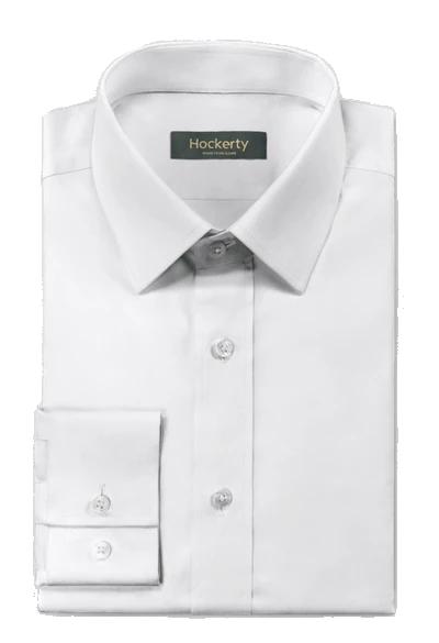 Premium cutaway collar white dress shirt by Hockerty