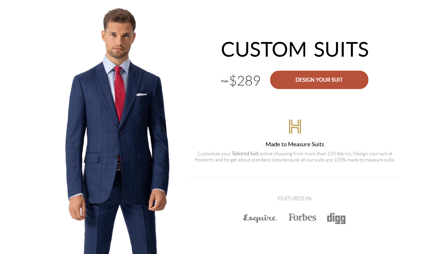 Hockerty suits - 3D designer and online ordering