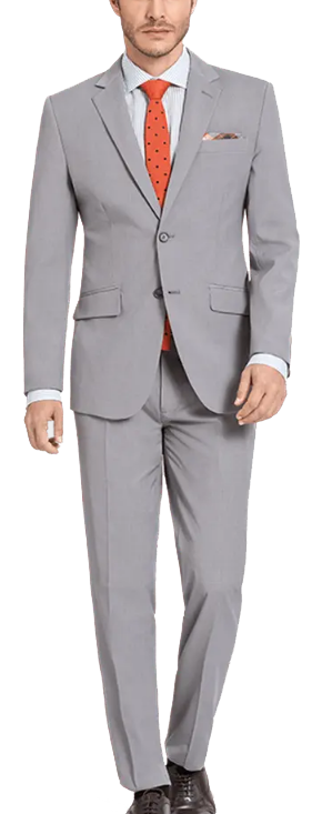 made-to-measure light-grey suit by Hockerty