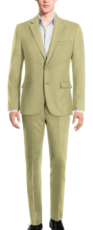 rayon pistachio green suit by Hockerty
