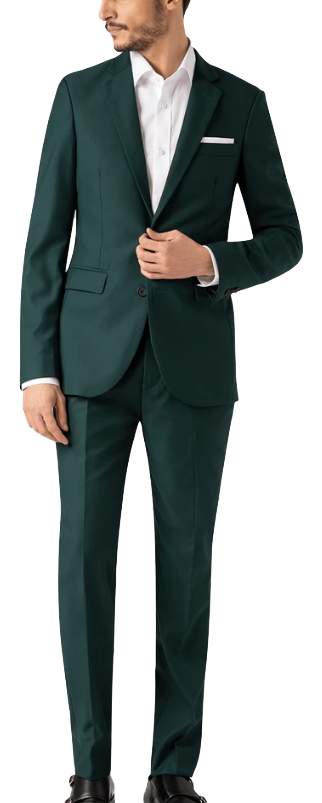 Green wool-blends suit by Hockerty