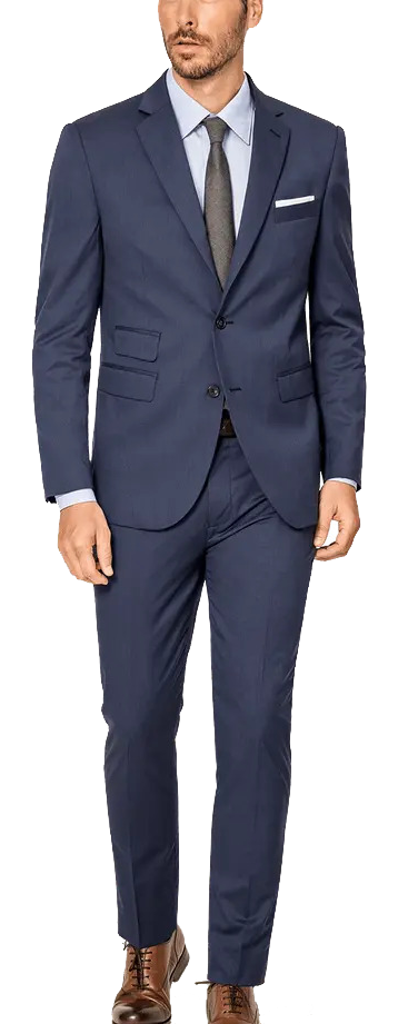 Royal blue wool blends suit by Hockerty