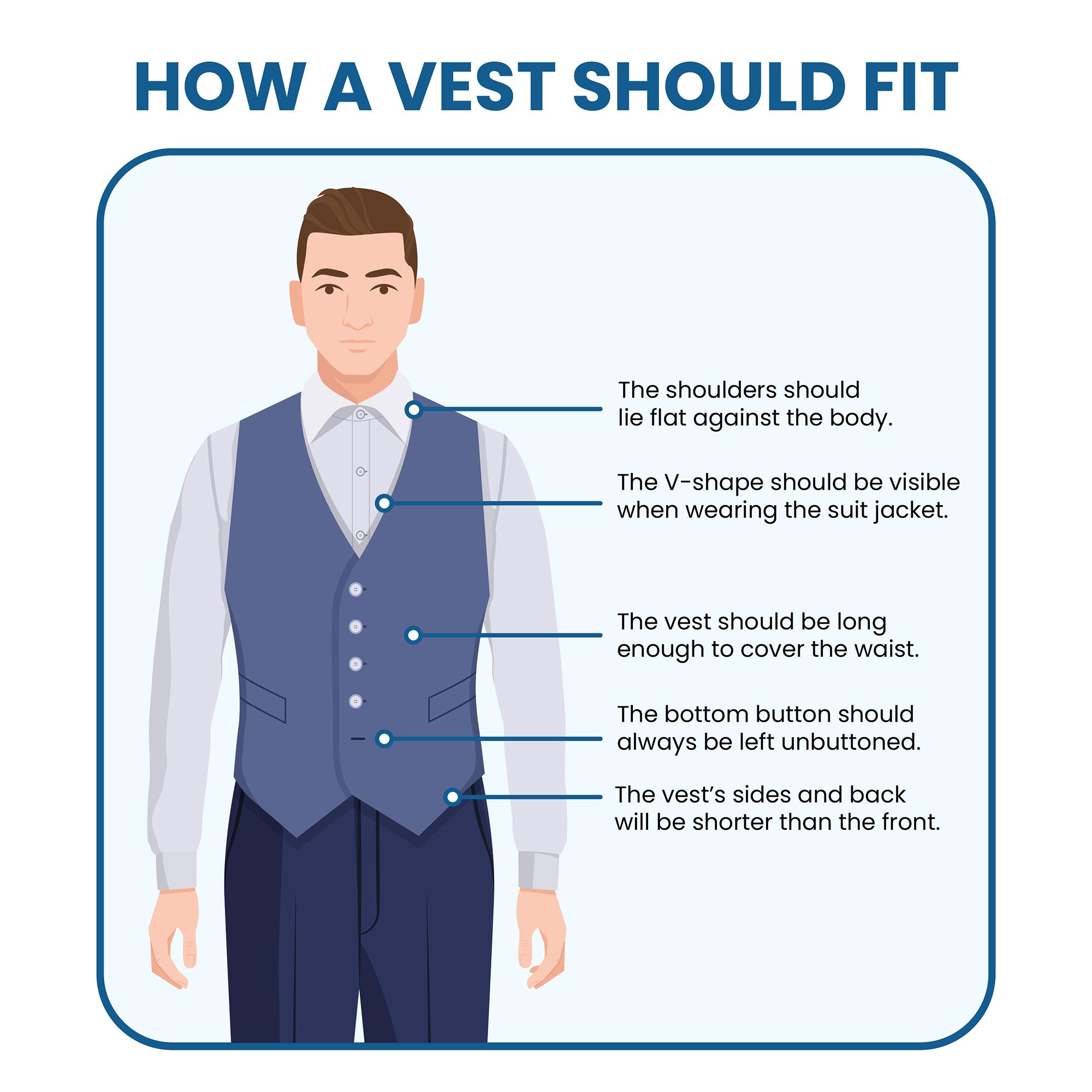 how should a suit vest fit