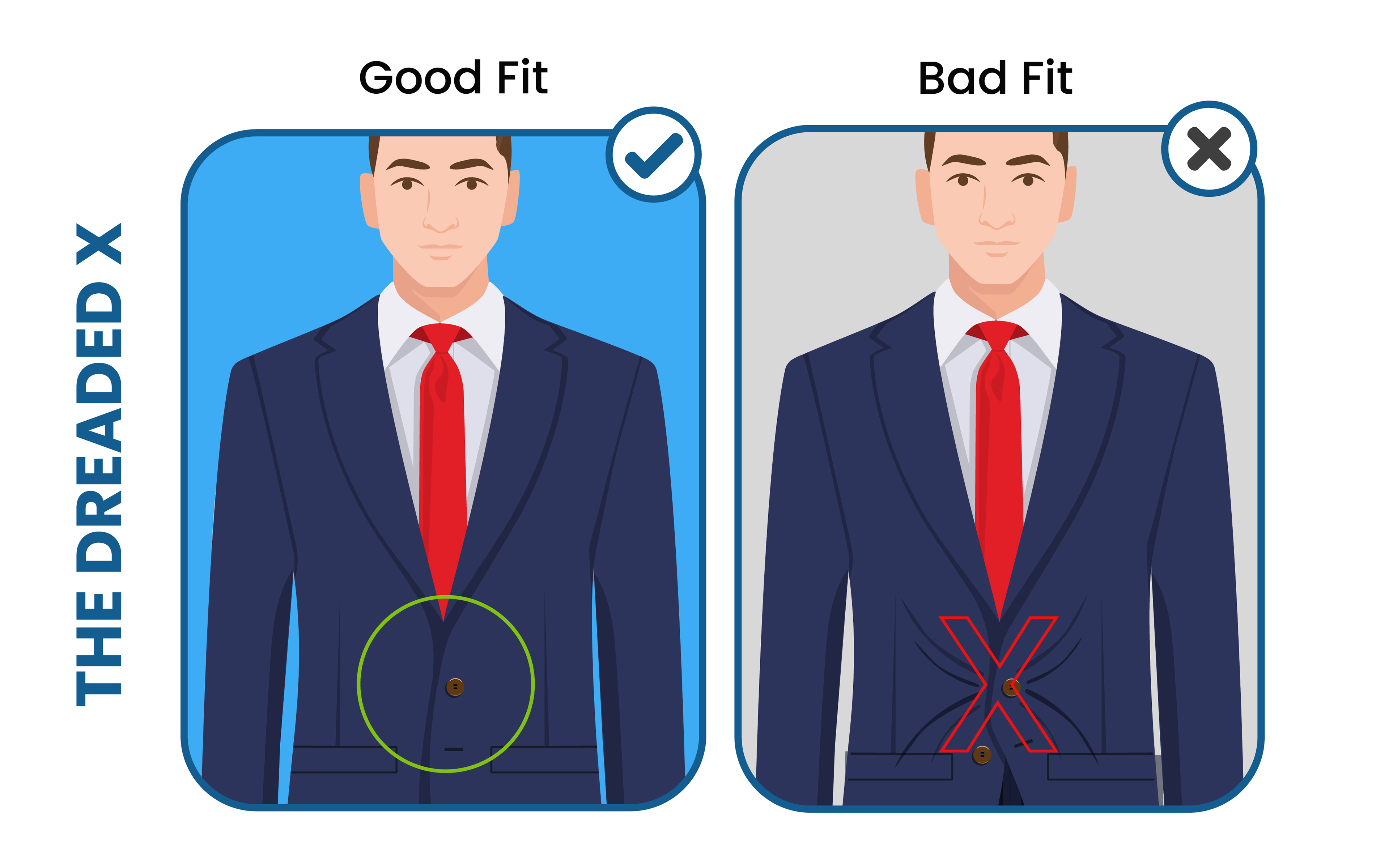 how to avoid the suit jacket's dreaded X in the fit